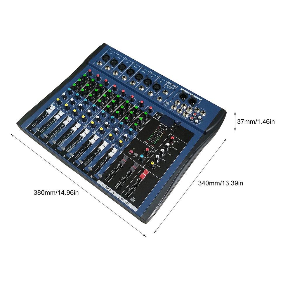 CT8 8 Kanaals Professionele Stereo Mixer Live Usb Studio Audio Geluid Console Netwerk Anker Apparaat Vocale Effect Processor - 6