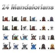 Legoing мандалор малыш йода Звездные войны куклы игрушки Grogu персонажи подарок для детей экшн-фигурки блоки Минифигурки боевой пакет