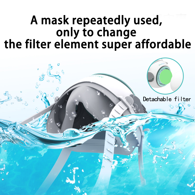 Abardeen MasClean Mouth Mask Kids Reusable Face Respirator 10PCS Filter Anti Virus PM2.5 Dust Masks for Bacteria Protection 1