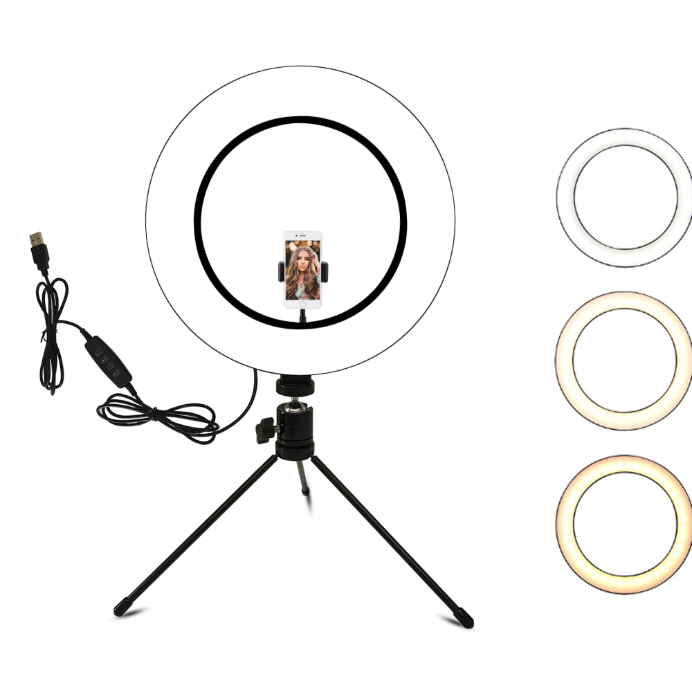 10.2 Inch Ring Light With Stand - Rovtop LED Camera Selfie Light Ring For IPhone Tripod And Phone Holder For Video Photography