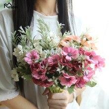 Bouquet Flower Wedding-Decor 15-Heads Flores Silk Artificial Small Fake Bunch Mini Spring