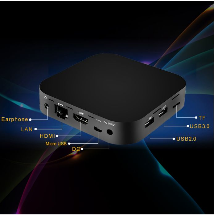 Asher Wintel Pro Fanless Intel Z8350 Quad Core Mini PC 2GB 32GB BT4.2 Win10 TV Box Wintel W8 PRO