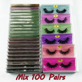 Mink Eyelashes Wholesale 30/50/100 pairs 3d mink lashes bulk natural false eyelashes Pack makeup Fake Eyelashes Bulk Items 1