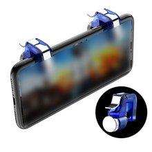 2 sztuk partia R11 metalowy inteligentny telefon mobilny wyzwalacz do gier dla PUBG mobilny Gamepad przycisk ognia cel klucz L1 R1 Shooter Pubg kontroler tanie tanio Fire Button Apple iphone Dropshipping Fast Shipping
