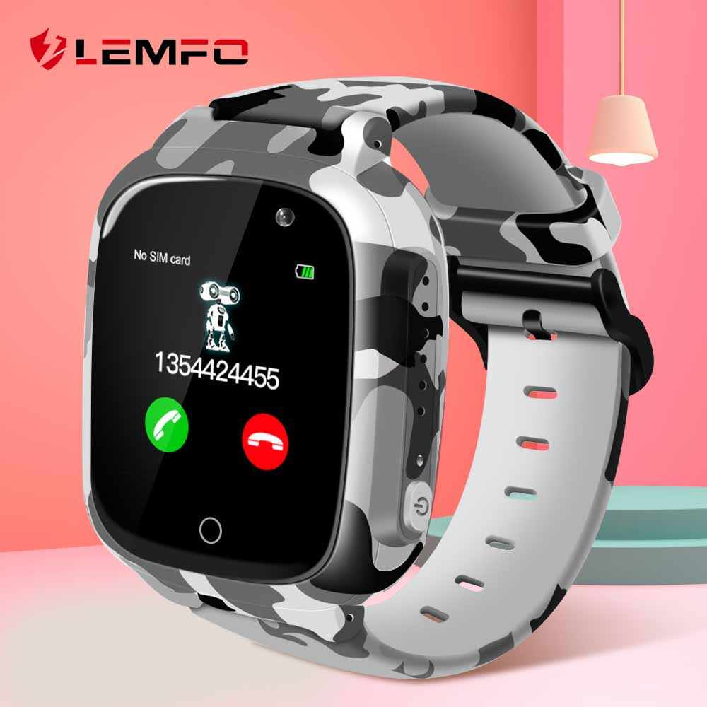LEMFO LEC2 Newest 1.3 Inch Smart Watch Kids Support SIM TF Card Camera GPS 600Mah Battery Take Video For Children