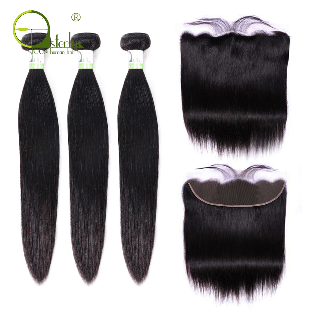 H9977a648338648019f8132a32d621e8b7 Sterly Straight Hair Bundles With Frontal Remy Human Hair Bundles With Closure Brazilian Hair Weave Bundles With Closure