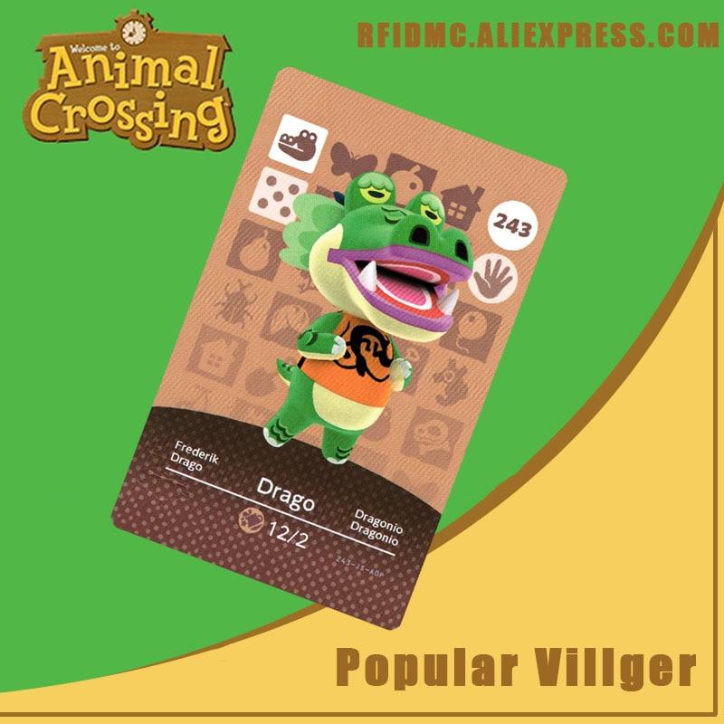 243 Drago Animal Crossing Card Amiibo For New Horizons