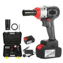 Cordless Impact Wrench 980Nm Torque Brushless Motor with 1/2&5/16 Inch Quick Chuck 4.0A Fast Charger Variable Speed Impact Kit