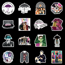 10/50pcs Umbrella Academy American Drama Personality Stickers PVC Graffiti Stickers Suitcase Luggage Guitar Waterproof Sticker