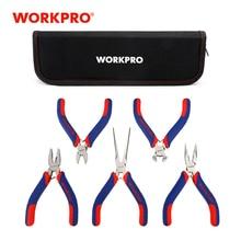 WORKPRO 5PCS Mini Precision Pliers Set Jewellery Pliers Diagnoal Pliers Cutter DIY Tool wire stripper multitool crimping tool