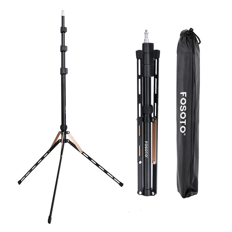 Fosoto FT 190 soporte de trípode de luz dorada 1/4 cabeza de bolsa de tornillo Softbox para estudio fotográfico iluminación Flash paraguas Reflector-in Accesorios para estudio fotográfico from Productos electrónicos on AliExpress
