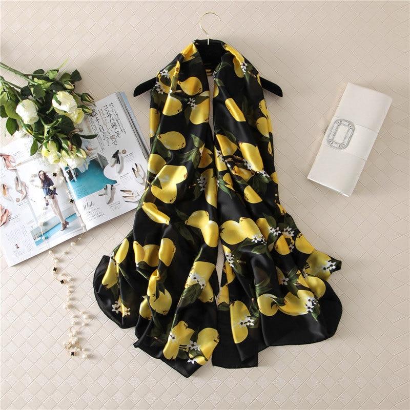 2019 New Style Women Beach Nice Quality Beautiful Flower Shawl Silk Lady Autumn And Winter Fashion Popular Print Scarves Hijab
