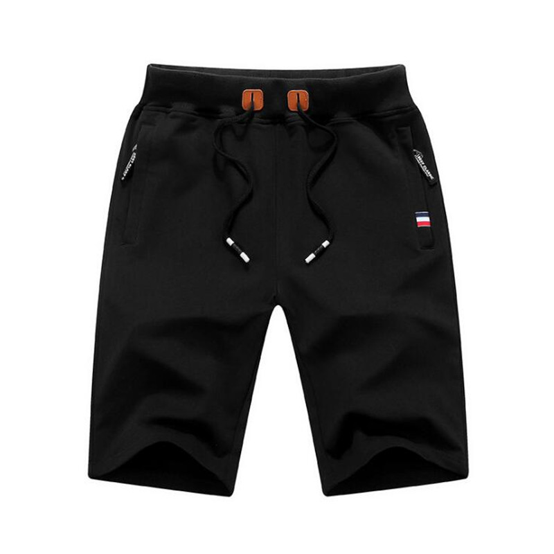2020 New Solid Men's Shorts Summer Casual Elastic Waist Cotton Beach Shorts Cotton Casual Male Shorts Brand Clothing M-6XL