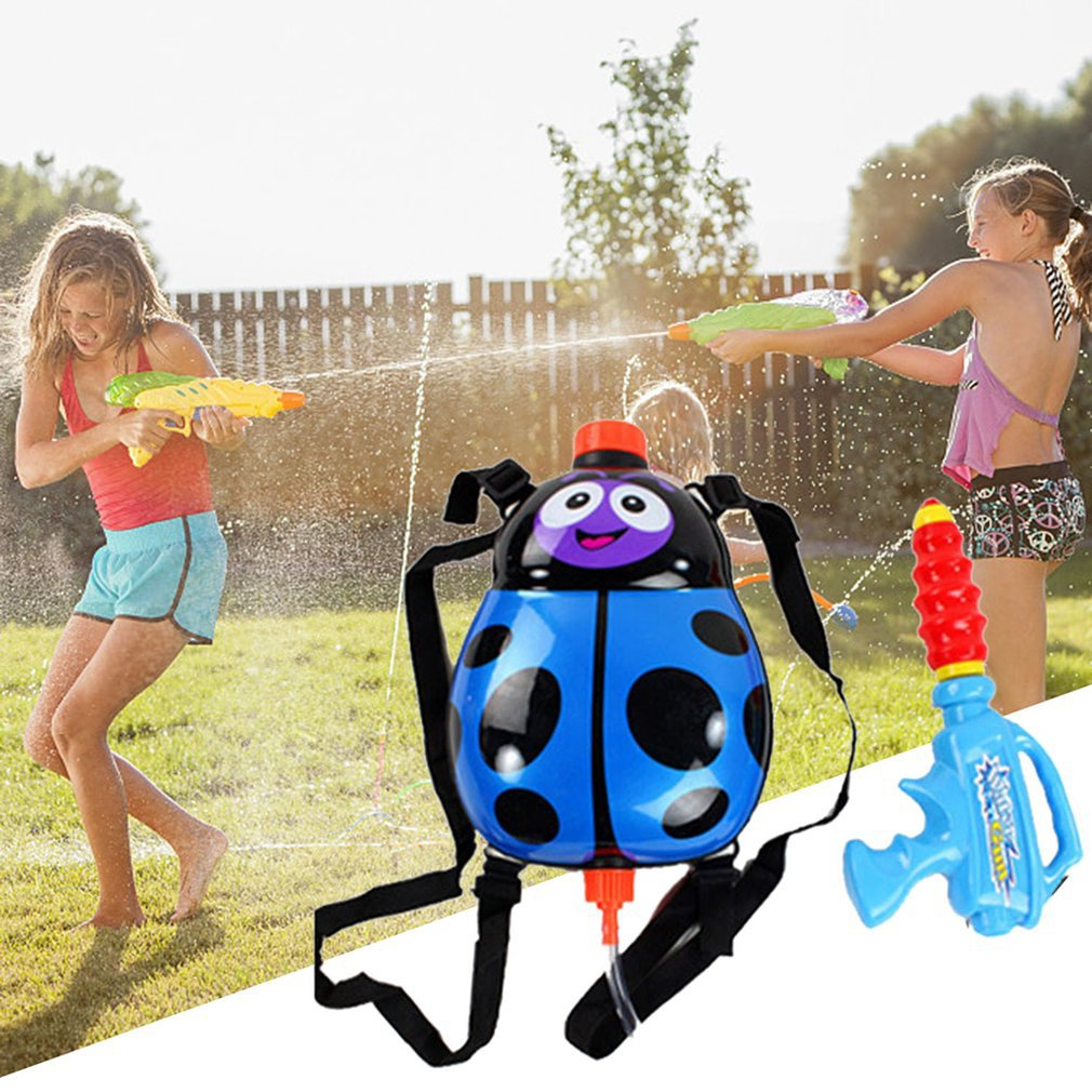 Children's Beetle Fun Backpack Pressure Water Tool Summer Beach Hot Sale High Pressure Pumping Water Toy