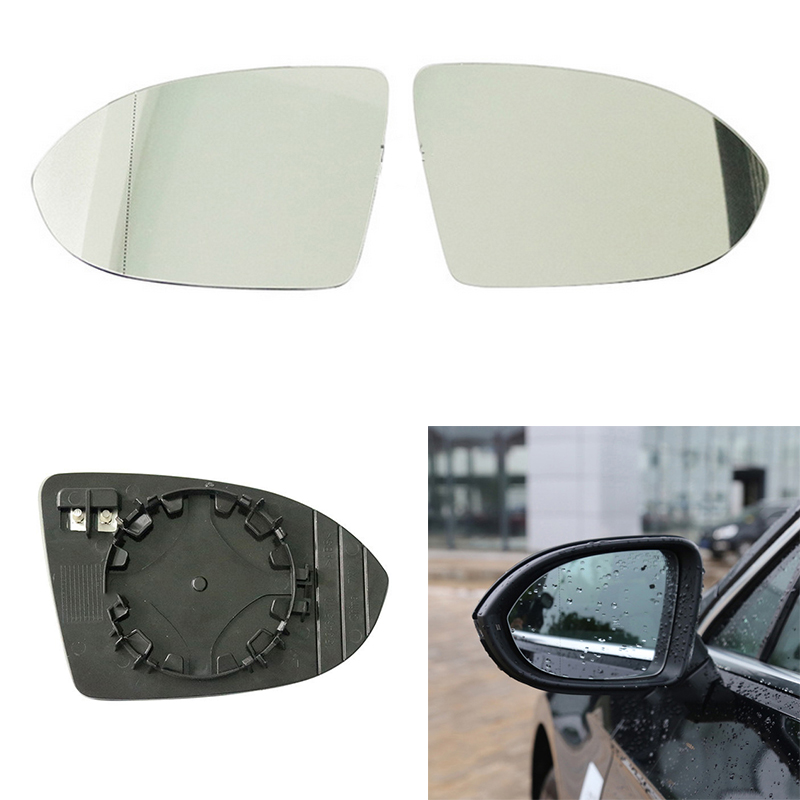 DNA Motoring OEM-MG-0132 68079362AA Factory Style Right Side Mirror Glass w//Heated
