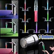 Прямая Светодиодный водопроводный кран для дома и кухни TE Light для душа красочная насадка для крана Креативные аксессуары для ванной комнаты Смесители 7