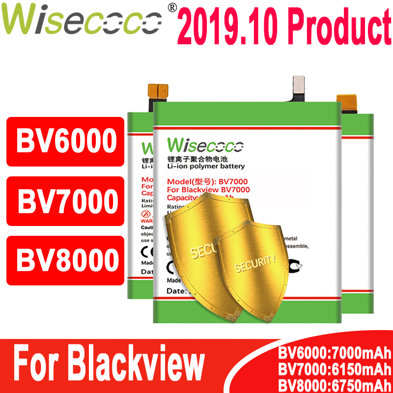 Wisecoco Battery For Blackview BV6000 BV6000S BV7000/BV7000 PRO BV8000/BV8000 PRO Mobile Phone Latest Production+Tracking Number(China)