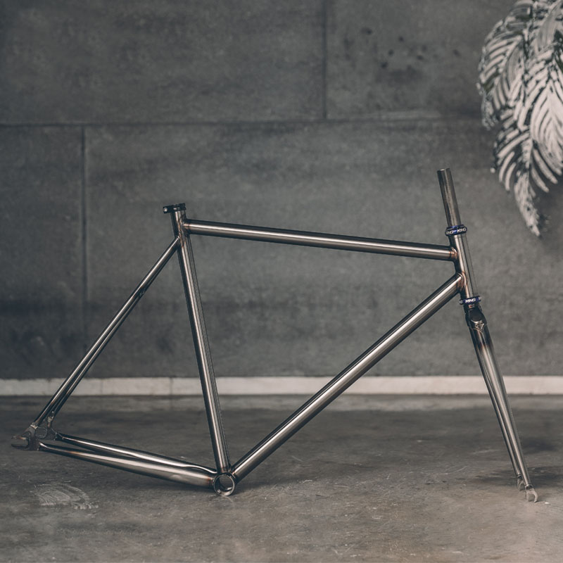 Fixed Gear Bike Frame Customed Bicycle Frame 46cm 48cm 50 Cm 52 Cm 56cm 58cm 60cm Chrome Molybdenum Steel Copper Plated Frame