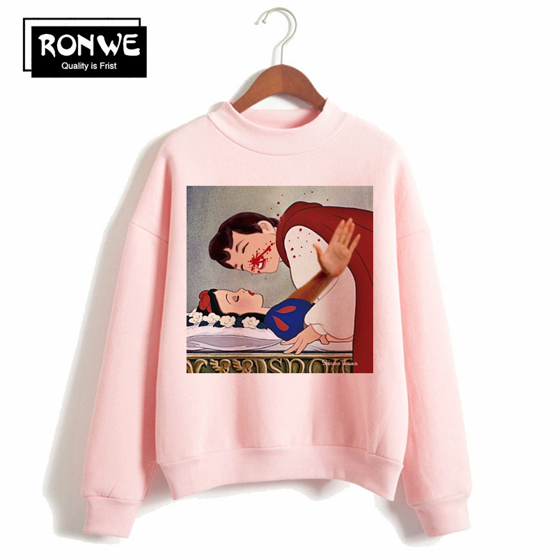Women's Dark Snow White Harajuku Hoodie Winter Female Autumn Sweatshirts Pullover Warm Clothes