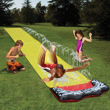 Lawn Water Slides Garden Racing Lawn Water Slide Spray Backyard Children Waterslide Summer Water Games Toy For Kids Outdoor