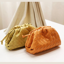 2020 luxury brand style Knitting designer women bags Weave leather pouch clutch