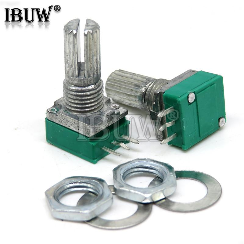 5 шт. RK097N 5K 10K 20K 50K 100K 500K B5K с переключателем аудио 3PIN ibuw вал 15 мм усилитель уплотнительный потенциометр