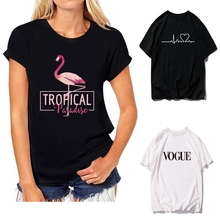 2019 NEW Summer T Shirts Womens Tshirts Female girls Tops Tees T-Shirts Slim wom