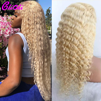 613 Lace Frontal Wig Deep Wave 613 Lace Front Wig 13X4 Brazilian Deep Wave Wigs 4x4 Lace Closure Wig Remy Hair Pre Plucked 180% image