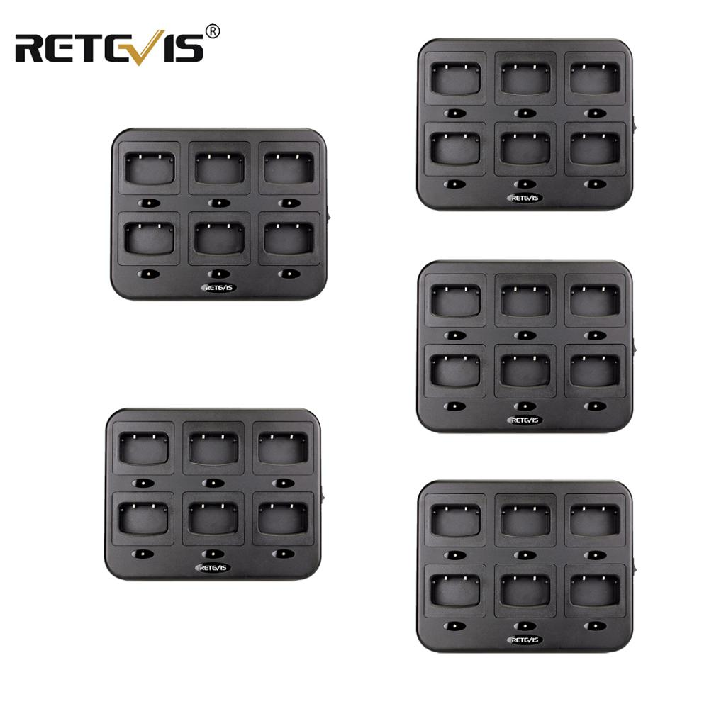 5PCS Retevis RTC777 Six-Way Charger Multiple Safety Protection For Retevis H777  For Baofeng 888S Bf-888S Walkie Talkie Chargers