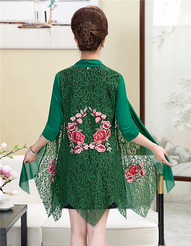 Summer Sun Protection Clothing Women's Lace Thin Coat Mid-length Woman Embroidered Cardigan Sunscreen Clothing Cardigan Jacket