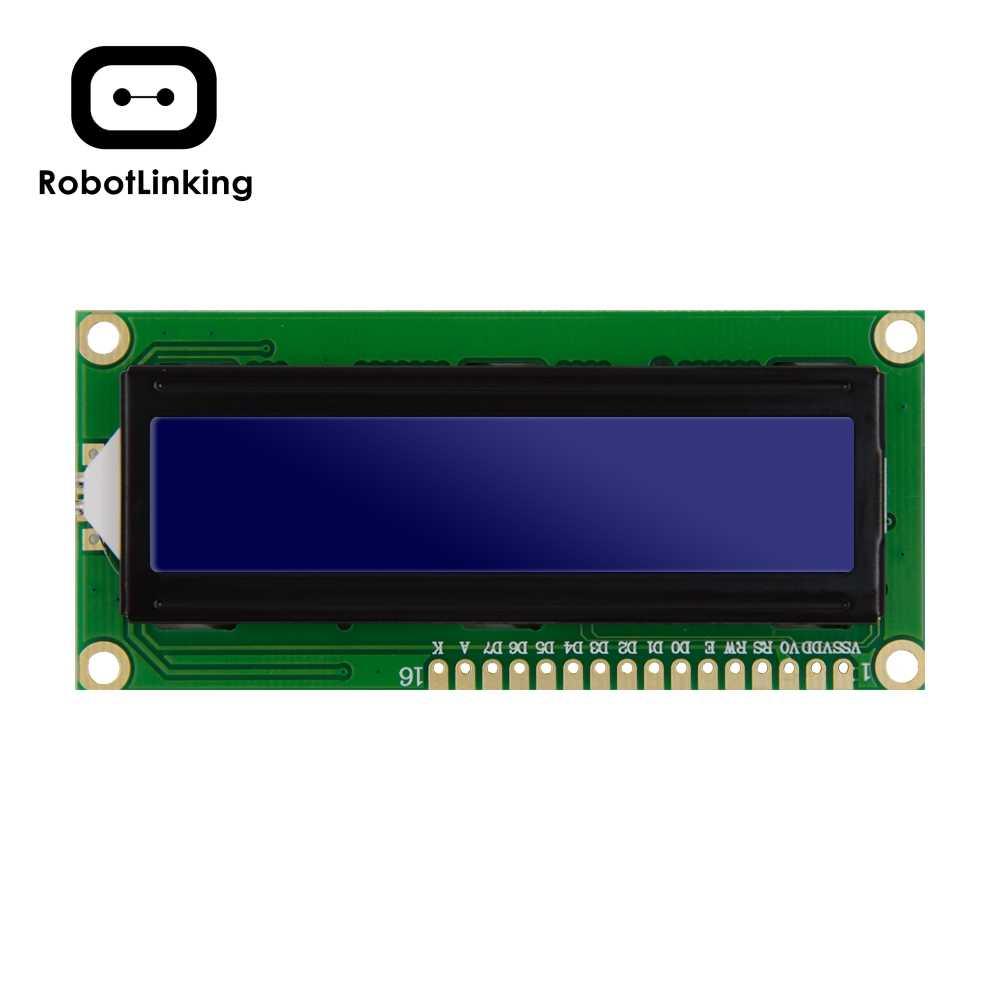 Module LCD moniteur d'affichage 1602 5V bleu (jaune vert) écran et Code blanc pour Arduino UNO 2560 Raspberry PI Board