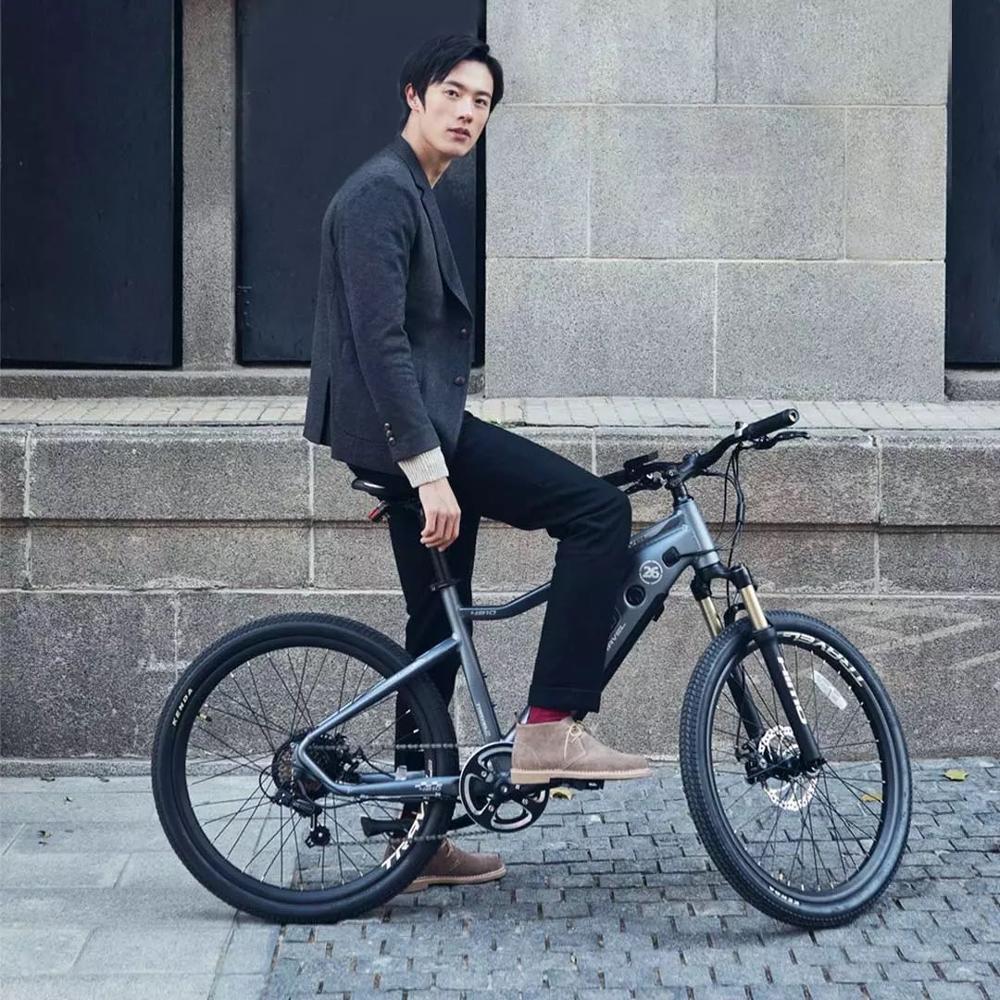 26inch electric mountain bicycle himo c26 ebike off-raod electric bike 48V hidden lithium battery range 40-80km hybrid ebike