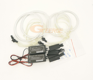 Image 3 - For SEAT Altea 2004 2015 headlight Excellent Ultra bright CCFL Angel Eyes Halo Rings kit car Accessories