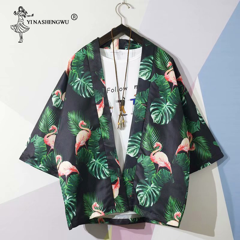 Yukata Women Kimonos Cardigan Men Japanese Kimono Traditional Unisex Harajuku Beach Loose Shirt Asian Japan Cartoon Cosplay Top