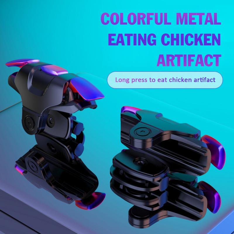 Colorful Metal Phone Gamepad Joystick For PUBG Mobile L1 R1 Shooter Fire Button Controller For IPhone Xiaomi Huawei Samsung