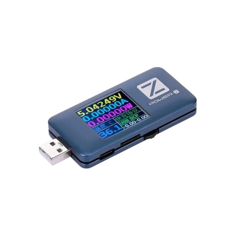 Tüketici Elektroniği'ten AC/DC Adaptörler'de Laboratuvar için POWER Z USB PD test cihazı şarj cihazı gerilim akım ölçer güç banka dedektörü title=