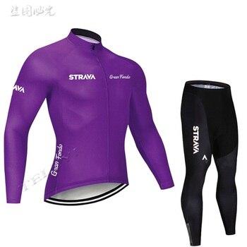 2019 strava outono manga longa camisa de ciclismo conjunto bib calças ropa ciclismo roupas de bicicleta mtb camisa uniforme roupas masculinas 11