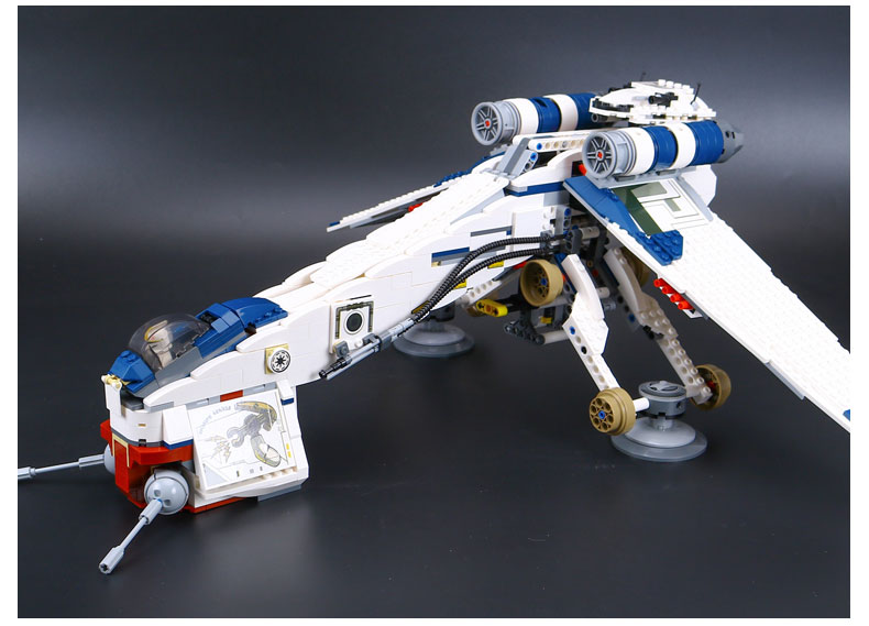 DHL 05053 Star Series Wars the Republic Drop-ship with AT-OT Walker Building Blocks Toy compatible LegoINGlys 10195 10