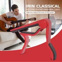купить IRIN Acoustic Classical Electric Guitar Universal Zinc Alloy Capo Unique Shape Flamenco Guitar Tuner Capo Guitar Accessories дешево