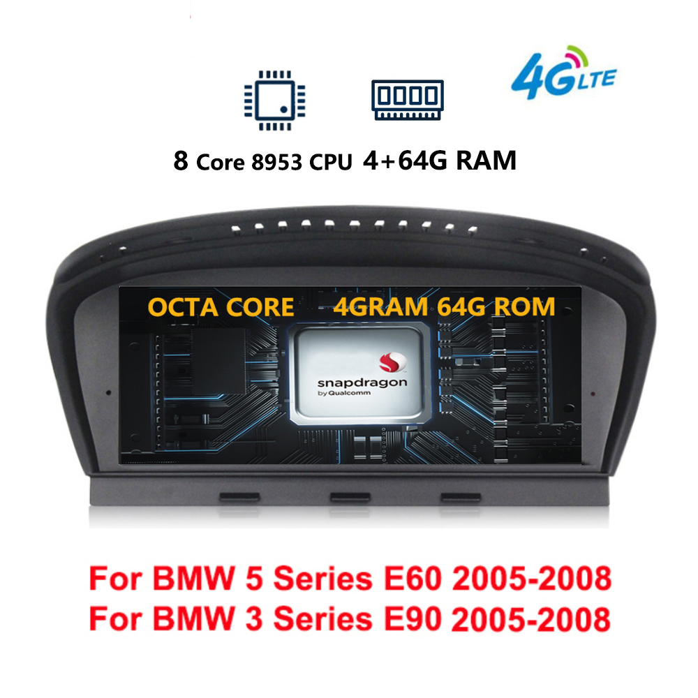 8 Core Android 9.0 System Auto GPS Stereo For <font><b>BMW</b></font> E60 <font><b>E90</b></font> IPS Touch Screen 4+64G RAM WIFI 4G SIM BT SWC Google Split Screen image