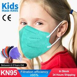 Crianças máscara mascarillas ffp2reutilizável kn95mask crianças proteção segurança cubrebocas mascherina fpp2 mascarillasffp2 niños