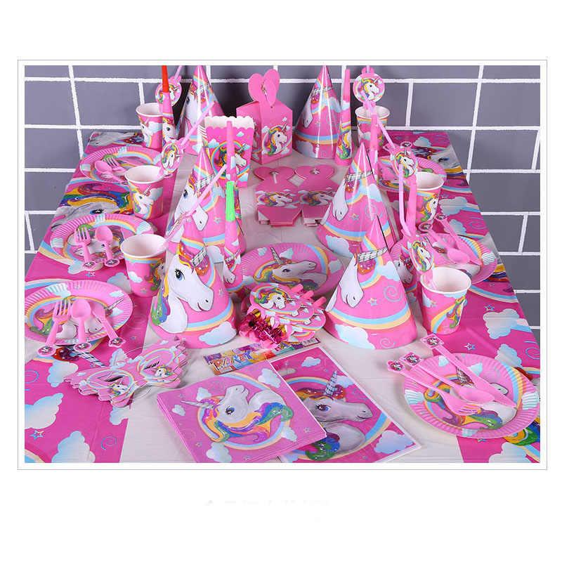 Anak-anak Ulang Tahun Dekorasi Unicorn Aurélie Licorne Eenhoorn Verjaardag Hadiah Dekorasi Pesta Lajang Dekorasi