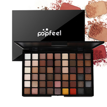 Popfeel 54 Colors Nude Eyeshadow Pallete Waterproof Cosmetic Powder Glitter Eye Shadow Palette Makeup Natural Shimmer Matte Set