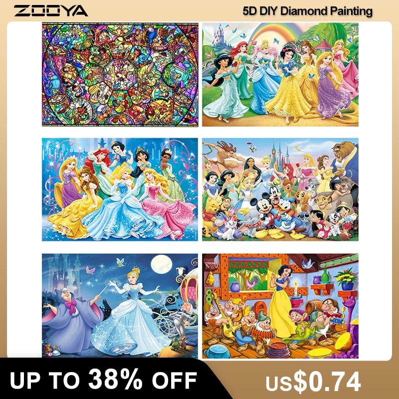 ZOOYA 5D Diamond Embroidery Fantasy Cartoon Mouse Full Square Diamond Painting Princess CrossStitch Kit Diamond Mosaic Sale P49