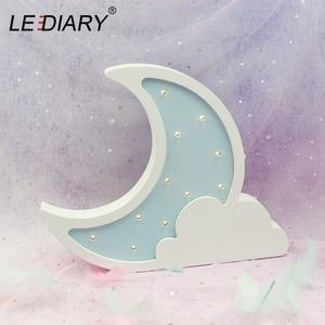 Image 2 - LEDIARYไม้Night Lightโคมไฟข้างเตียงMoon Star LED Night Lightรอมฎอนตกแต่งห้องเด็กเด็กห้องนอน