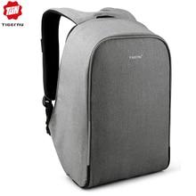 "Tigernu Business Men Backpack USB Charging Port Fits Under 15.6"" Laptop Notebook Travel School bag with waterproof rain cover"