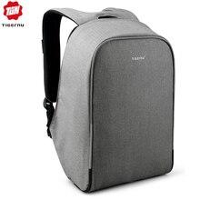 """Tigernu mochila de negocios para hombre con puerto de carga USB, para ordenador portátil de 15,6 """", Bolsa Escolar de viaje con funda impermeable para la lluvia"""