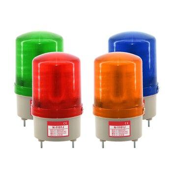 1Pcs 48V AC/DC LED N-1101 Rotating Sound Beacon Warning Light Lamp N-1101J Spiral Fixed Alarm For Industrial LTE-1101 настенное бра n light n light 09 20 09 2021 0311 01 gold dark chrome