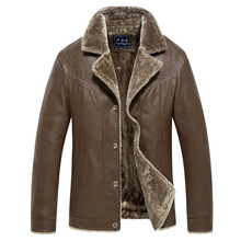 Puimentiua Mens leather jacket motorcycle windbreaker PU mens warm solid color plus velvet
