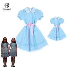ROLECOS 子供ハロウィン衣装輝く双子コスプレ衣装子供ドレスガールハロウィンドレス甘い親子服
